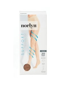 Norlyn - Support 20 den -tukisukkahousut - POWDER | Stockmann