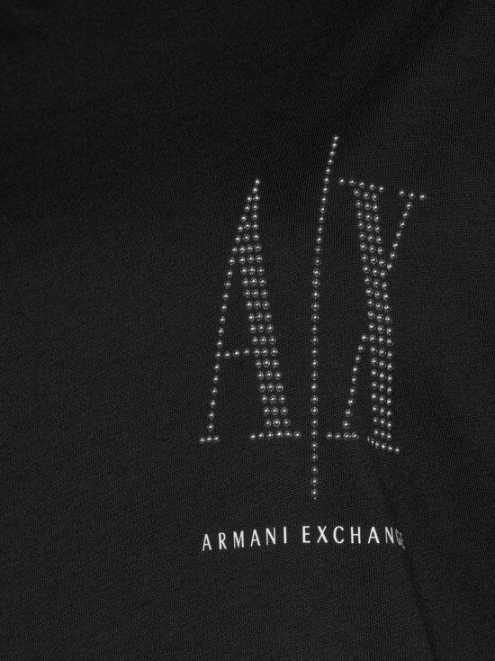 ARMANI EXCHANGE - Icon Logo T-shirt -mekko - 8218 BLACK/STUDS | Stockmann - photo 4