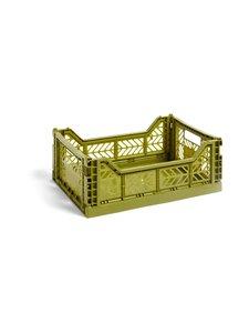 HAY - Colour Crate M -laatikko 40 x 30 x 14,5 cm - OLIVE | Stockmann
