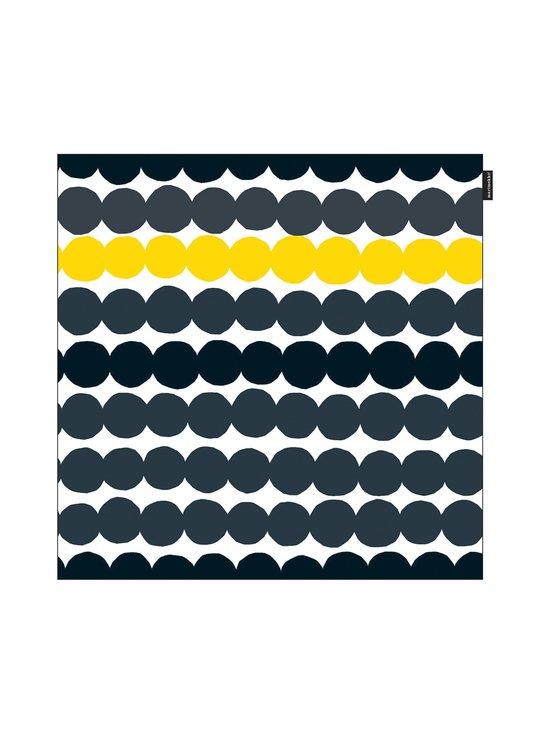 Marimekko - Räsymatto-tyynynpäällinen 50 x 50 cm - MUSTA/KELTAINEN | Stockmann - photo 1