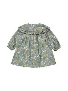 MINGNELIN - Sideways Frill Dress -frillamekko - GREEN BIRD FLOWER | Stockmann