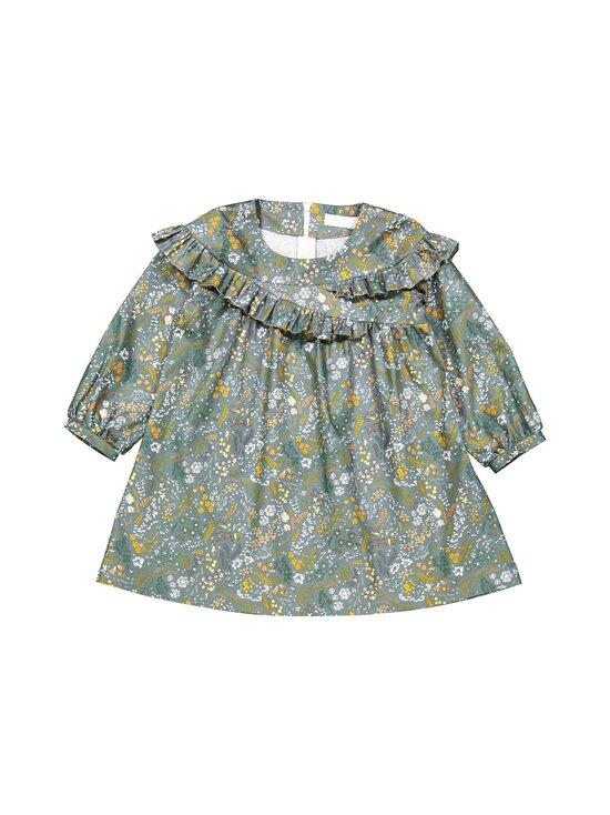MINGNELIN - Sideways Frill Dress -frillamekko - GREEN BIRD FLOWER | Stockmann - photo 1