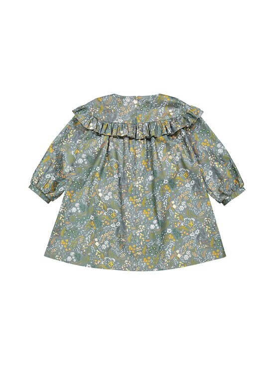 MINGNELIN - Sideways Frill Dress -frillamekko - GREEN BIRD FLOWER | Stockmann - photo 2