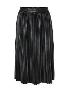 Noisy may - NmHill High Waist Polyurethane Pleated Skirt -tekonahkahame - BLACK | Stockmann