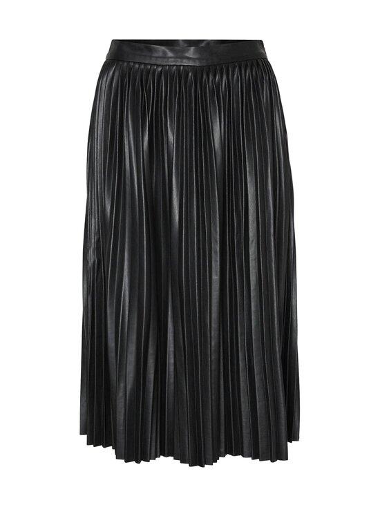 Noisy may - NmHill High Waist Polyurethane Pleated Skirt -tekonahkahame - BLACK | Stockmann - photo 1