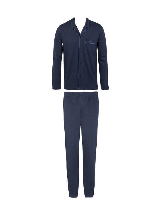 Emporio Armani - Knit Pyjama Button Set -pyjama - 00135 MARINE | Stockmann - photo 1