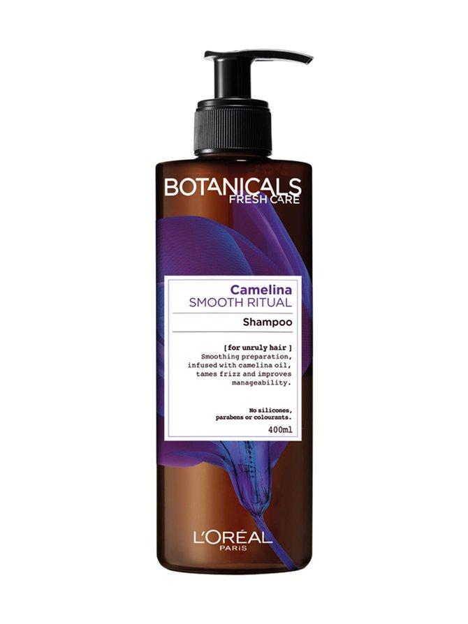 Camelina Smooth Ritual -shampoo hallitsemattomille hiuksille 400 ml