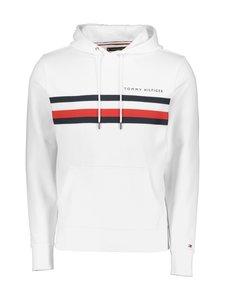 Tommy Hilfiger - Hilfiger Logo Hoody -huppari - YBR WHITE | Stockmann