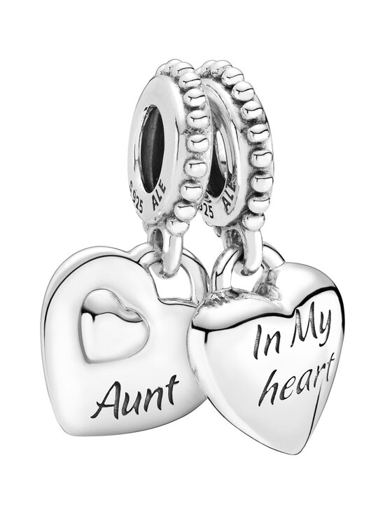 Pandora - Aunt & Niece Split Heart Dangle Charm -riipus - SILVER | Stockmann - photo 1