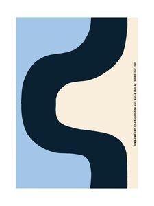 Marimekko - Seireeni-juliste 50 x 70 cm - BEIGE/MUSTA/SININEN   Stockmann