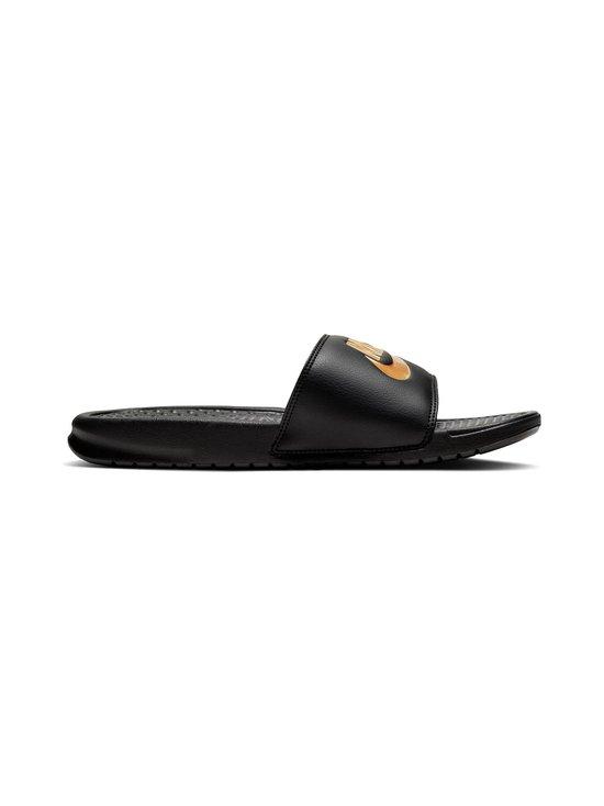 Nike - Mens Nike Benassi Just Do It. Sandal Nike - BLACK/METALLIC GOLD | Stockmann - photo 1