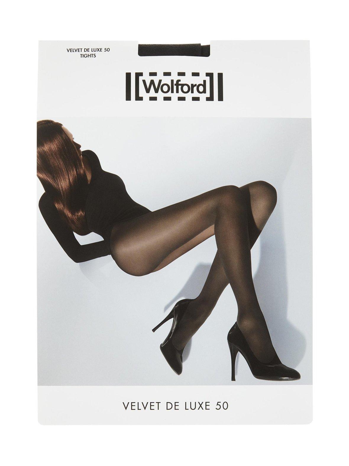 Black Wolford Velvet De Luxe 50 den -sukkahousut  f837f0a2d9