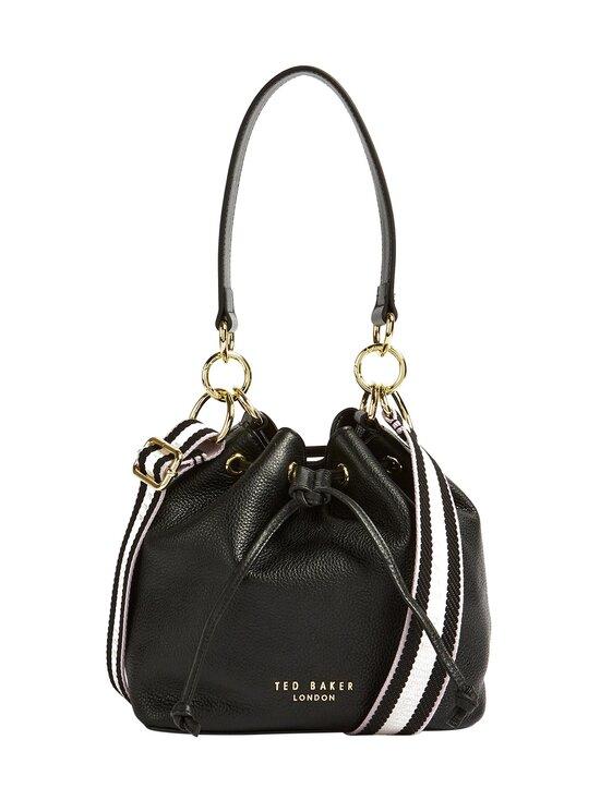 Ted Baker London - AMINAH Branded Webbing Strap Bucket Bag -nahkalaukku - JET-BLACK | Stockmann - photo 1