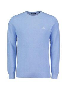 GANT - Cotton Pique C-Neck -puuvillaneule - 497 LT BLUE MELANGE | Stockmann