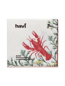 Havi - Servetti 40 x 40 cm, 15 kpl - VALKOINEN/PUNAINEN | Stockmann