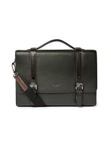 Ted Baker London - Hoock Brogue Leather Satchel -nahkalaukku - 00 BLACK | Stockmann