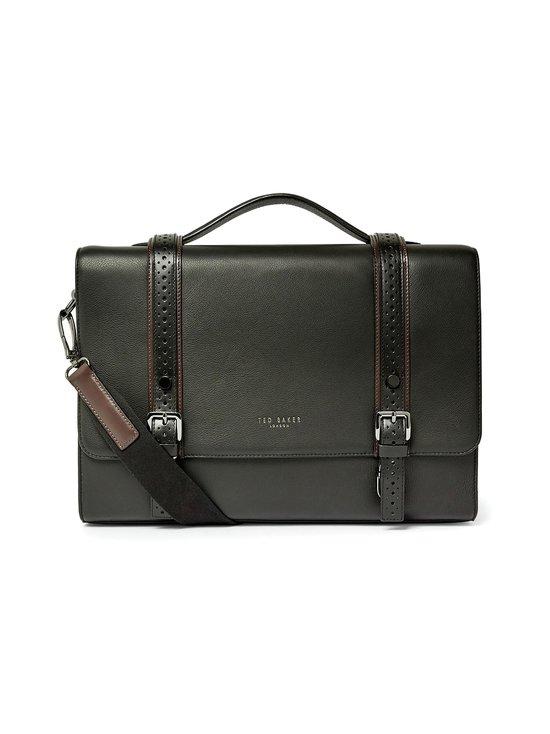 Ted Baker London - Hoock Brogue Leather Satchel -nahkalaukku - 00 BLACK | Stockmann - photo 1