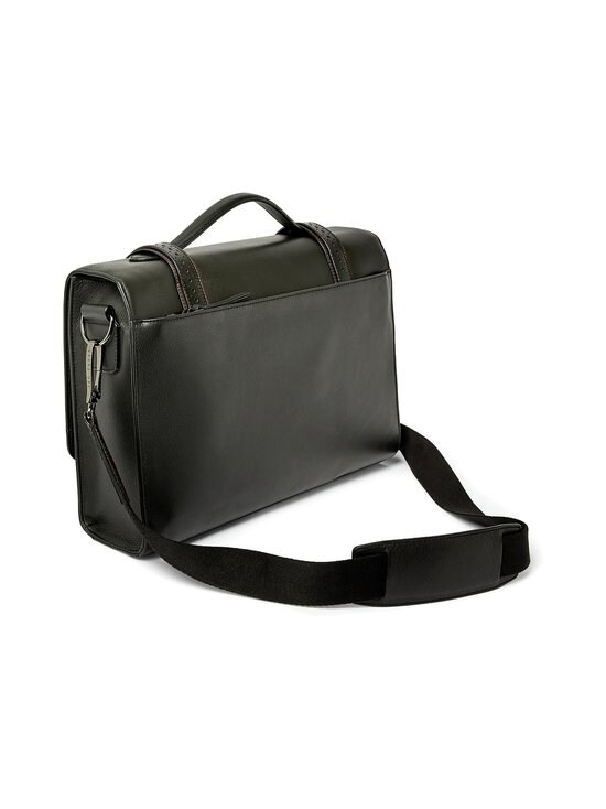 Ted Baker London - Hoock Brogue Leather Satchel -nahkalaukku - 00 BLACK | Stockmann - photo 2