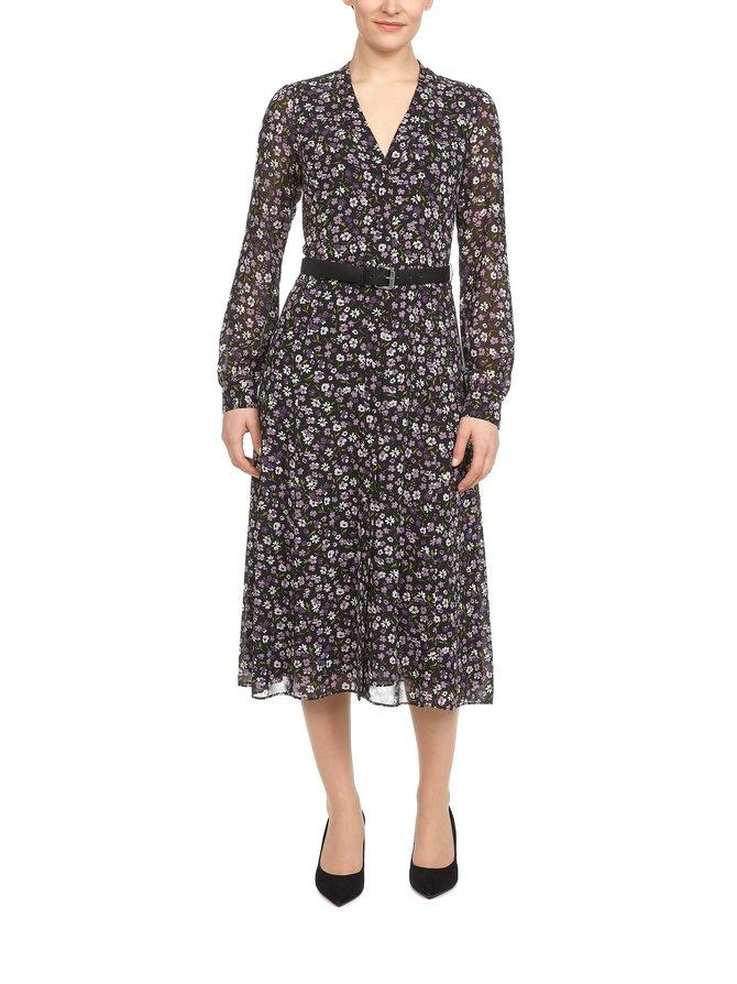 Floral Georgette Shirtdress -mekko