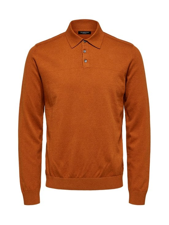 SlhBerg LS Polo Neck -puuvillaneule