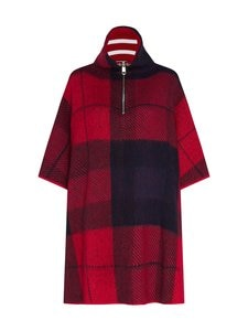 Tommy Hilfiger - Tommy Icons Cape Jumper -neule - 09N ICON CHECK RED/BLUE | Stockmann