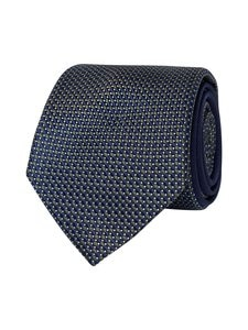 Tommy Hilfiger Tailored - Micro Design Silk Tie -silkkisolmio - 0IA GREEN/NAVY | Stockmann