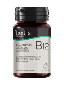 Bertils - B12 -vitamiini 1000 µg -ravintolisä + Folaatti 250 µg -ravintolisä 100 tabl. - null | Stockmann