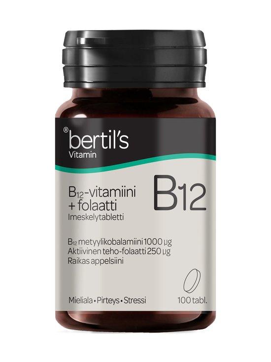 Bertils - Bertil´s B12 -vitamiini 1000 µg -ravintolisä + Folaatti 250 µg -ravintolisä 100 tabl. - NOCOL | Stockmann - photo 1