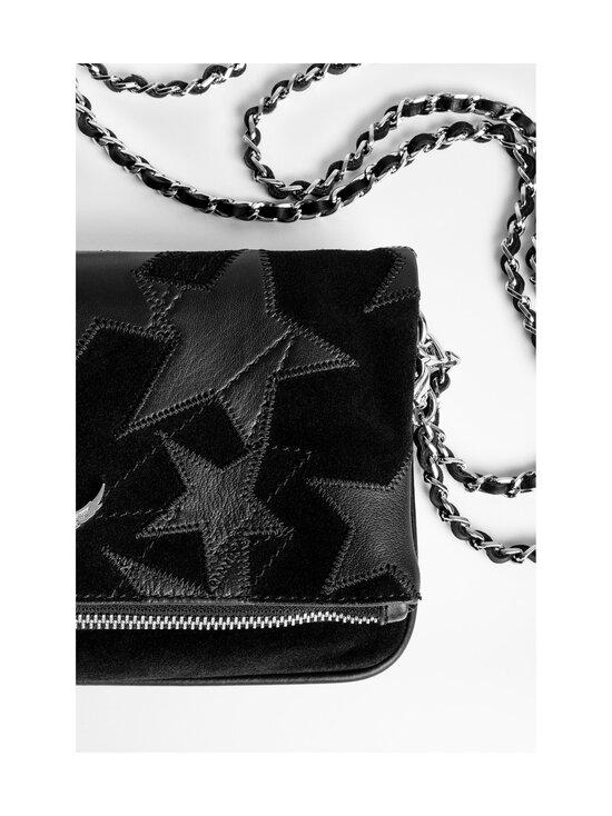 Zadig&Voltaire - Rock Suede Patchwork Flash Stars -nahkalaukku - BLACK   Stockmann - photo 4