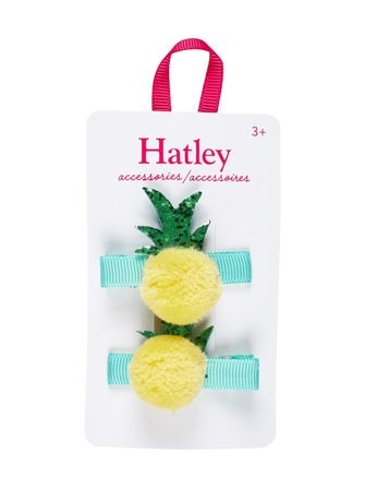 Pom Pom pineapples hair clips 2 pcs