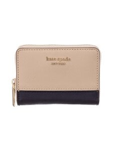 kate spade new york - Spencer Zip Cardholder -korttikotelo - 195 WARM BEIGE/BLACK | Stockmann
