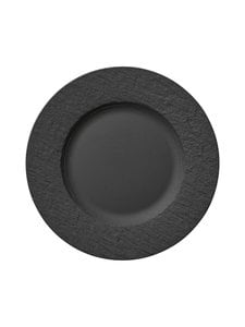 Villeroy & Boch - Manufacture Rock -lautanen 27 cm - BLACK | Stockmann