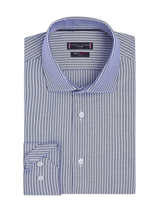 Tommy Hilfiger Tailored - Flex Collar Stripe Slim Fit -kauluspaita - 0GY NAVY/WHITE | Stockmann - photo 2