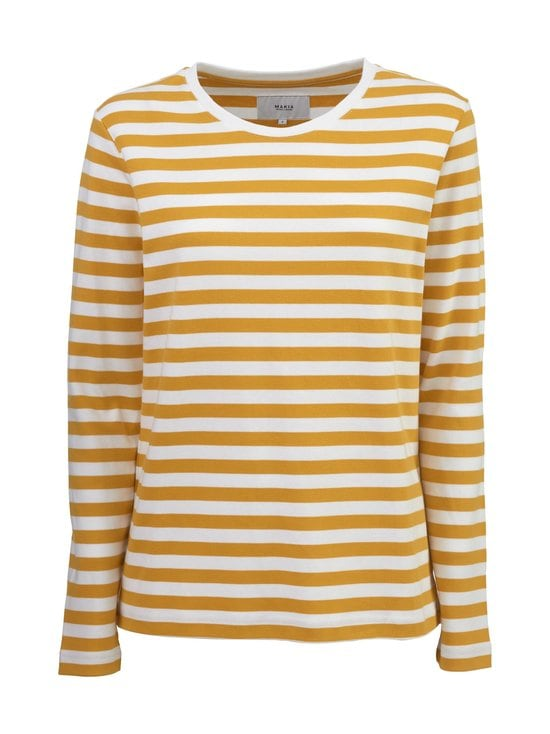 Makia - Verkstad Long Sleeve -paita - 230 OCHRE-WHITE | Stockmann - photo 1