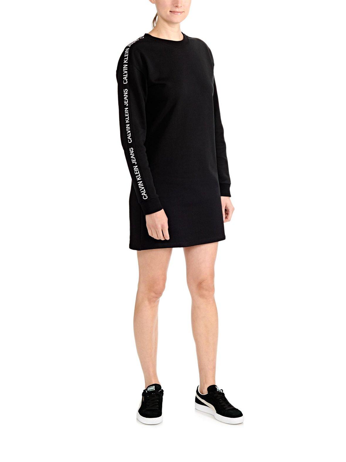 Black CollegemekkoXs Jeans Institutional Naiset Ck Logo Track c1JlKFT