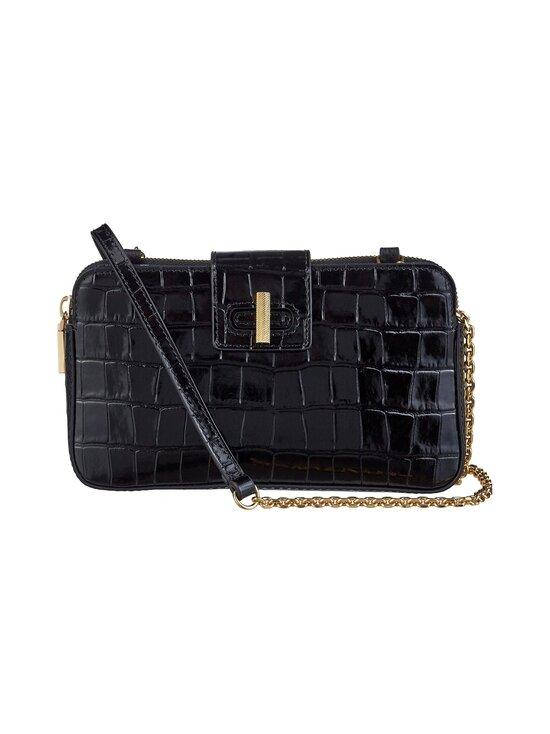 Coccinelle - Mini Bag Fedra Lock Shiny Soft Croco -nahkalaukku - 001 NOIR | Stockmann - photo 1
