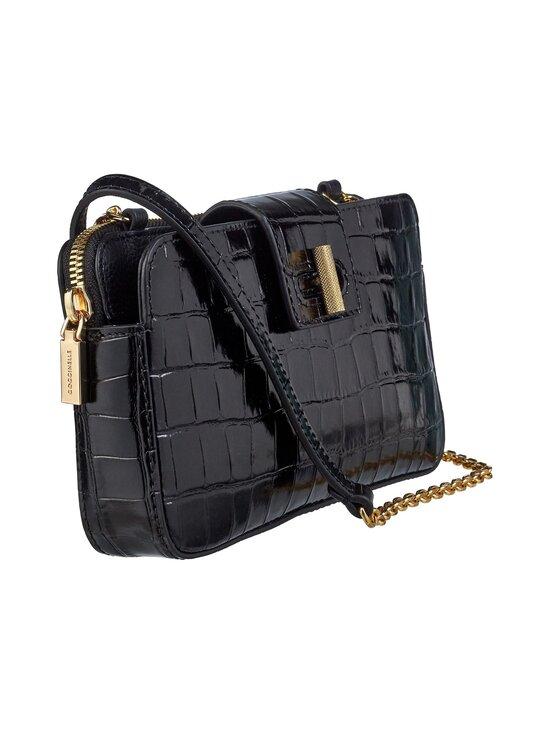 Coccinelle - Mini Bag Fedra Lock Shiny Soft Croco -nahkalaukku - 001 NOIR | Stockmann - photo 2