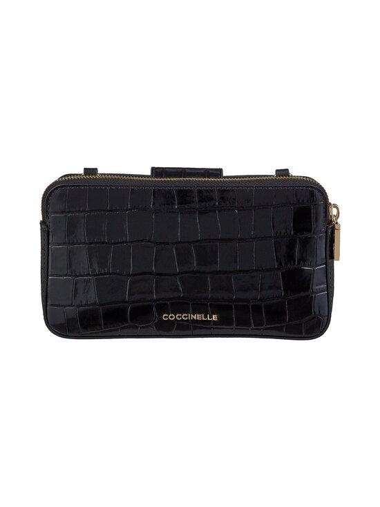Coccinelle - Mini Bag Fedra Lock Shiny Soft Croco -nahkalaukku - 001 NOIR | Stockmann - photo 3