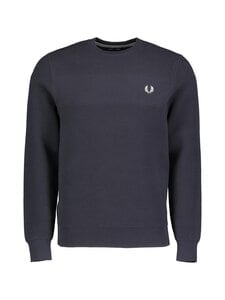 Fred Perry - Textured Stripe Jumper -neule - 893 BLACK NAVY | Stockmann