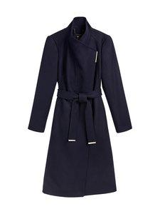 Ted Baker London - Rose Midi Wool Wrap Coat -villakangastakki - NAVY | Stockmann