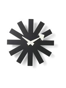 Vitra - Asterisk Clock -seinäkello 25 cm - BLACK | Stockmann