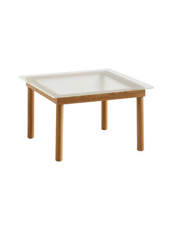 HAY - Kofi-pöytä 60 x 60 cm - OAK / CLEAR REEDED GLASS | Stockmann - photo 1