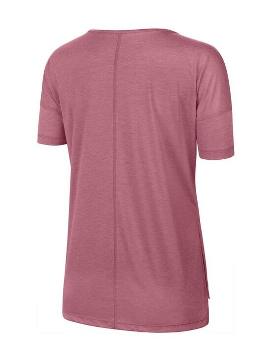 Nike - Yoga Dry Layer SS Top -paita - 614 DESERT BERRY/HTR/LT ARCTIC PINK | Stockmann - photo 2