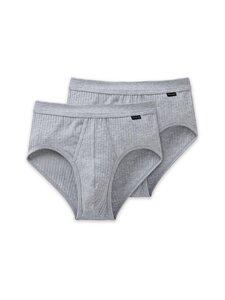 Schiesser - Authentic Sportslip -alushousut 2-pack - 202 GREY MELANGE | Stockmann