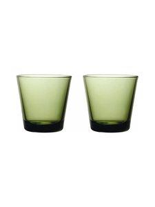 Iittala - Kartio-juomalasi 21 cl, 2 kpl - SAMMALEENVIHREÄ | Stockmann