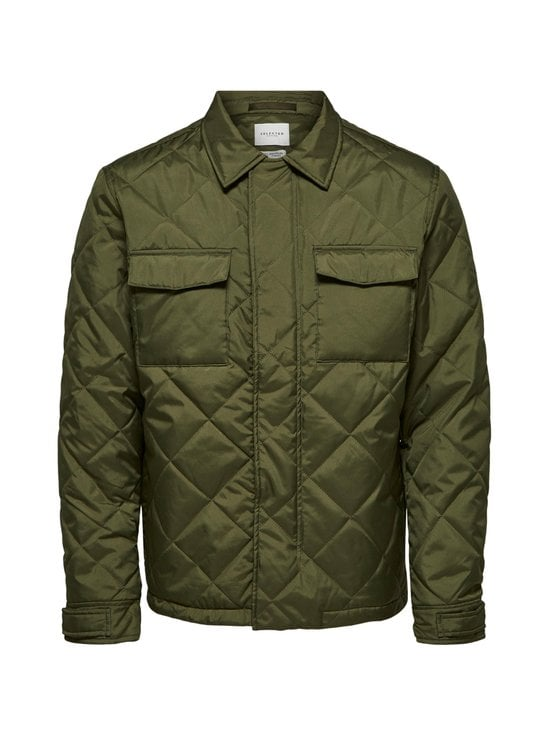 Selected - SlhArvey Quilted Jacket -takki - WINTER MOSS | Stockmann - photo 1