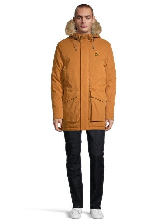 Lyle & Scott - Winter Weight Microfleece Lined Parka -takki - W119 CARAMEL | Stockmann - photo 2