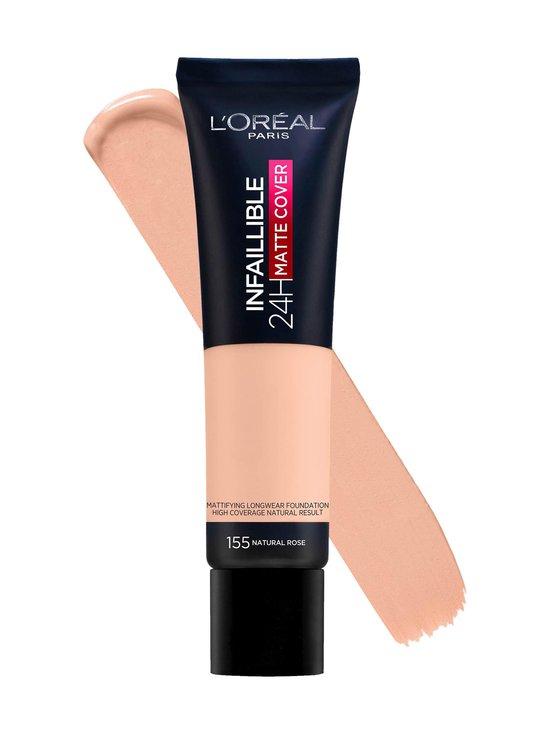 L'Oréal Paris - Infaillible 24H Matte Cover Foundation -mattameikkivoide 30 ml - 155 NATURAL ROSE | Stockmann - photo 2