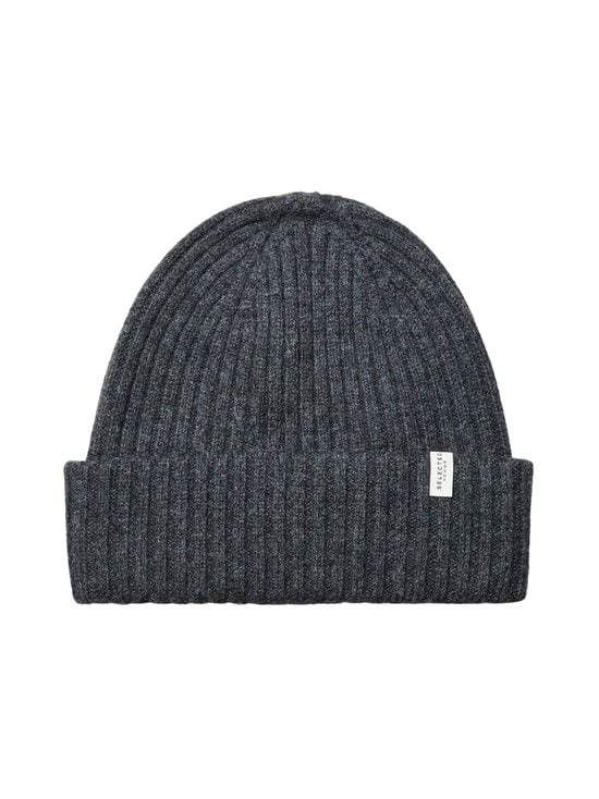 Selected - SlhMerino Cardigan Beanie -villapipo - DARK GREY MELANGE | Stockmann - photo 1