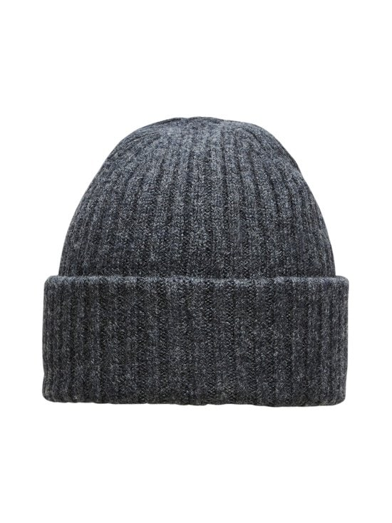 Selected - SlhMerino Cardigan Beanie -villapipo - DARK GREY MELANGE | Stockmann - photo 2
